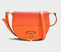 Handtasche Latch aus oragenem Ziegenleder
