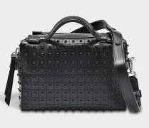 Don Baulundto Mini Gommino Tasche aus schwarzem Kalbsleder