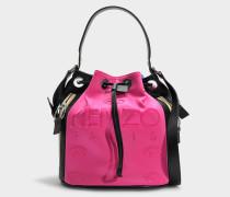 Bucket Bag Kombo Kanvas aus Polyester in Fuchsia