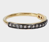 Wild Ring 24K goldfarbenem-plattiertem Silber und Diamanten