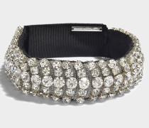 Crystal Choker Halskette aus Clear weißem Metall