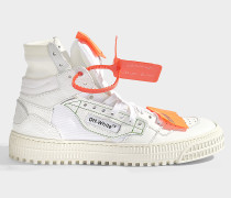 Sneaker Low 3.0 aus glattem, weißem Kalbsleder