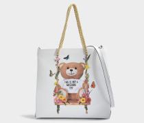 Teddy Shoulder Bag aus rosanem Kalbsleder