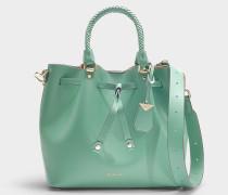 Bucket Bag Blakely Medium aus grünem Kalbsleder