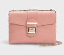 Marianne Shoulder Bag in Rosewood Grainy Calf Leather