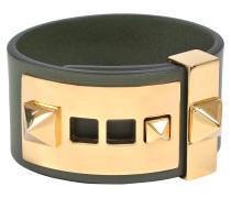 B-Rockstud Armband in Oasis Khaki aus Leder