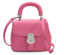 Small DK88 Top Handle Tasche aus rosa geprägtem Kalbsleder