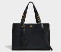 Brooke Satchel Tasche aus schwarzem Leder