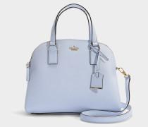 Handtasche Lottie Cameron Street aus blauem Kalbsleder