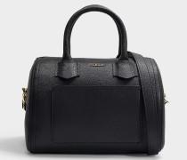 Tasche Alba S aus schwarzem Leder