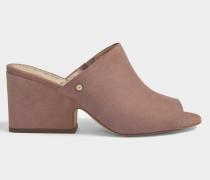 Rhanda Open Toe Mule Schuhe aus aschrosanem Wildleder