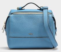 Kleine Handtasche Dalia aus blauem Kalbsleder