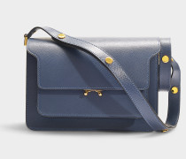 Trunk Medium Bag in Navy Saffiano Calfskin