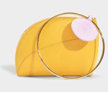 Kleine Handtasche Eartha aus camelfarbenem Leder