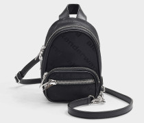 Attica Soft Mini Backpak with Logo in Black Nylon