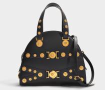 Handtasche aus schwarzem Kalbsleder