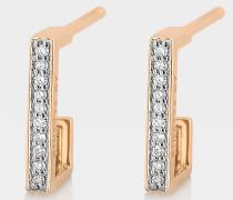 Kreolen Diamond Art Deco aus 18 Karat Gelb- und Roségold