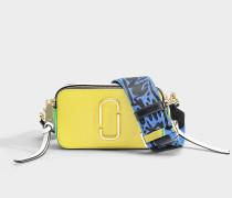 Handtasche Snapshot aus Kalbsleder mit Polyurethan Beschichtung in Geld und Bunt