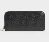 Ellerby TBB Brieftasche aus schwarzem, Logo-geprägtem Leder