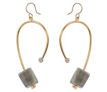 Ohrringe mit Horn aus blassem goldfarbenem Metall