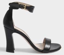 Lotto Sandalen mit Fesselriemen aus schwarzem Nappaleder
