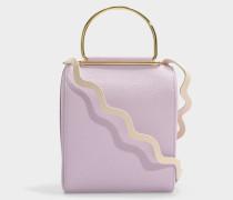 Handtasche Besa aus lila Leder