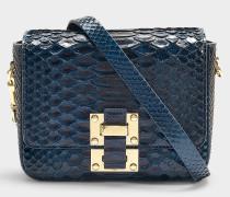 Kleine Handtasche The Quick mit blauer Pythonprägung
