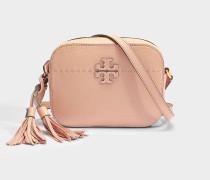 Mcgraw Kamera Tasche aus rosanem Kalbsleder
