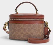 Trail Crossbody Bag in Brown Signature Coated Canvas