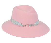 Hut aus rosa Hasenfilz
