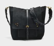 Django Tasche aus schwarzem Ziegenleder