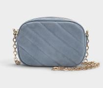 Tasche Carole aus blaugrauem Kalbsleder