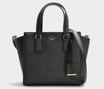 Kleine Handtasche Hayden Cameron Street aus schwarzem Kalbsleder