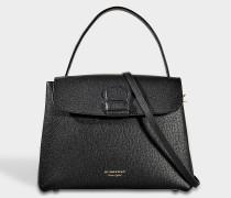 Camberly Medium Tasche aus schwarzem Kalbsleder