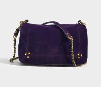 Handtasche mit Schulterriemen Bobi aus Lammleder und Samt Violett