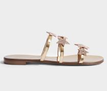 Star Schlappen Schuhe aus Rummy Leder