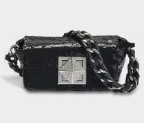Le Copain Mini Tasche aus schwarzem Ziegenleder
