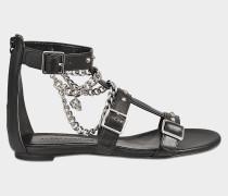 Flache Sandalen mit Ketten