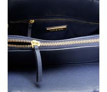 Kira Small Tote Bag aus Royal navyblauem und schwarzem Danubio Soft Leder