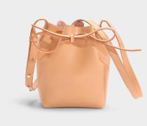 Bucket Bag Mini Mini Bucket aus braunem Kalbsleder