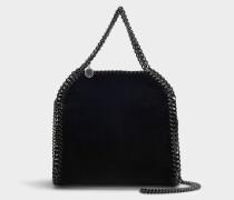 Mini Shopper Falabella aus schwarzem Samt