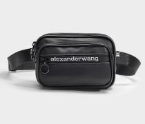 Belt Bag Attica Soft aus schwarzem, mattem Nappaleder