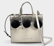 The Mini Grausd Tote Bag aus altweißem Kuhleder
