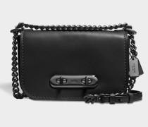 Swagger 20 Shoulder Bag aus schwarzem Kalbsleder