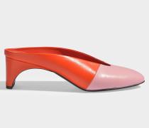 Yayoi Mule Schuhe aus rosanem und rotem Kitzleder