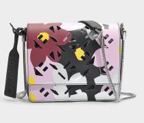 Flyausg Logo Essentials Shoulder Bag mit Chain aus Flamingo rosanem Jackie Floral Print aus Synthetik