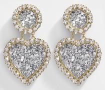 Ohrringe Mini Marilyn Argent aus vergoldetem Messing in Silber