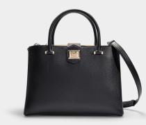 Tasche Marianne aus genarbtem, schwarzem Kalbsleder