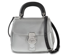 Small DK88 Top Handle Tasche aus silber geprägtem Kalbsleder