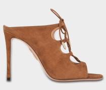 Flirt Mules 105 Schuhe aus haselnussbraunem Wildleder